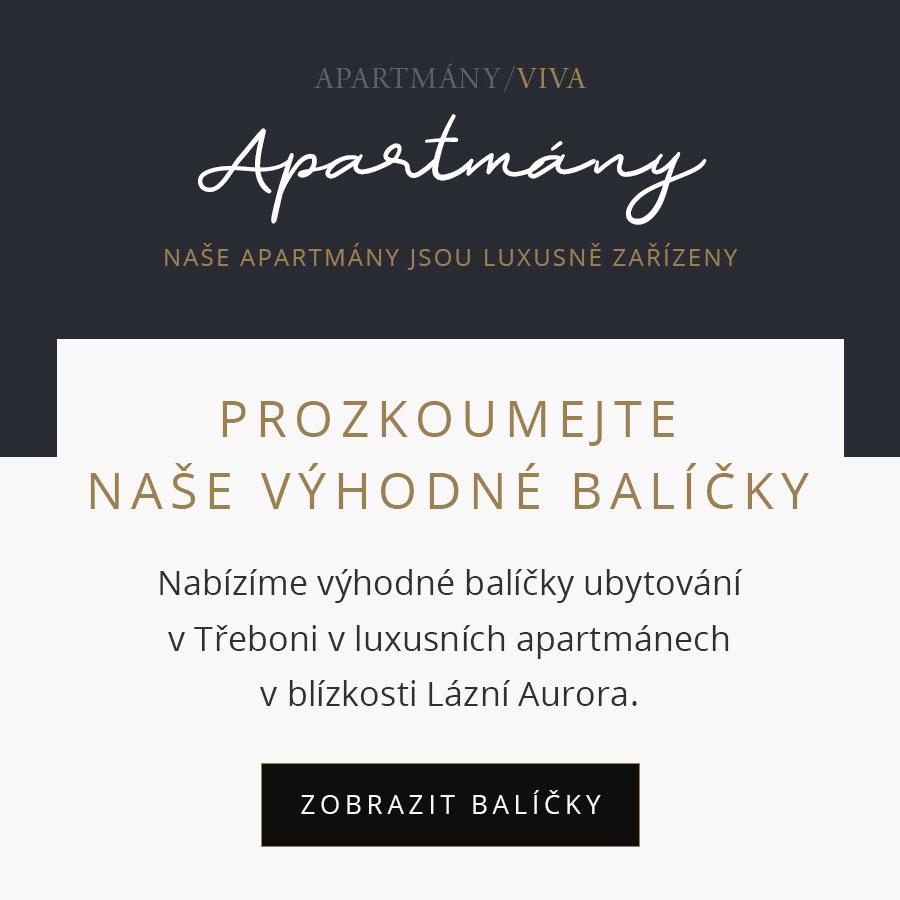 Viva apartmány ubytování Třeboň - Výhodné balíčky