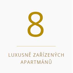 8 luxusně zařízených apartmánů v Třeboni